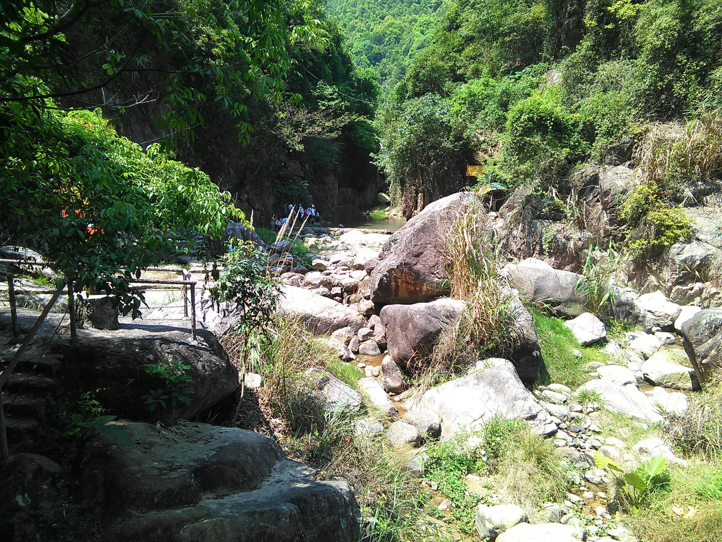 瀑布顶端 热带雨林 雨林喷雾 犹如仙境的雨林 侏罗纪恐龙岛 食草龙