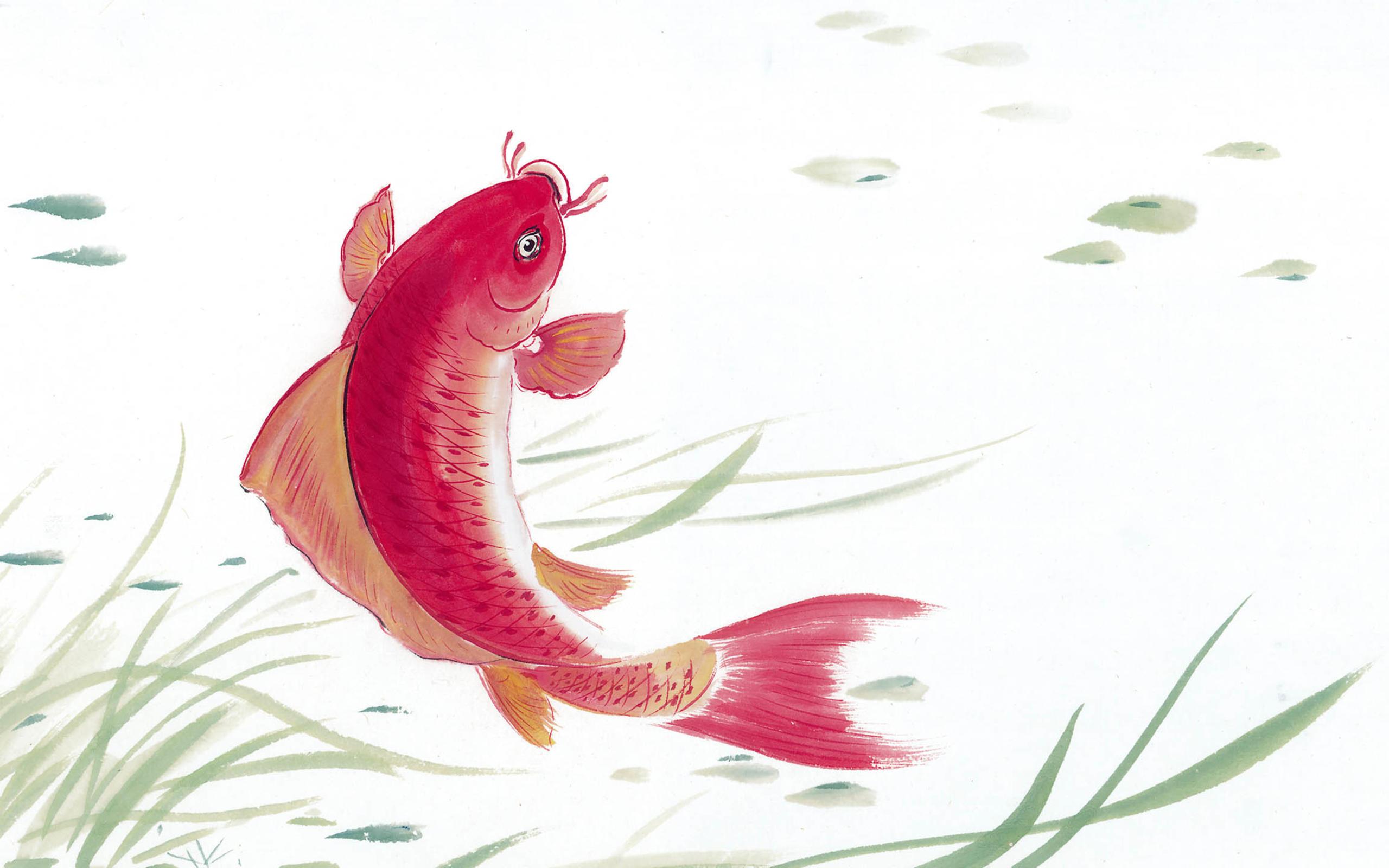 【金鱼中国风水墨画】-【社区活动】论坛-手机乐粉家