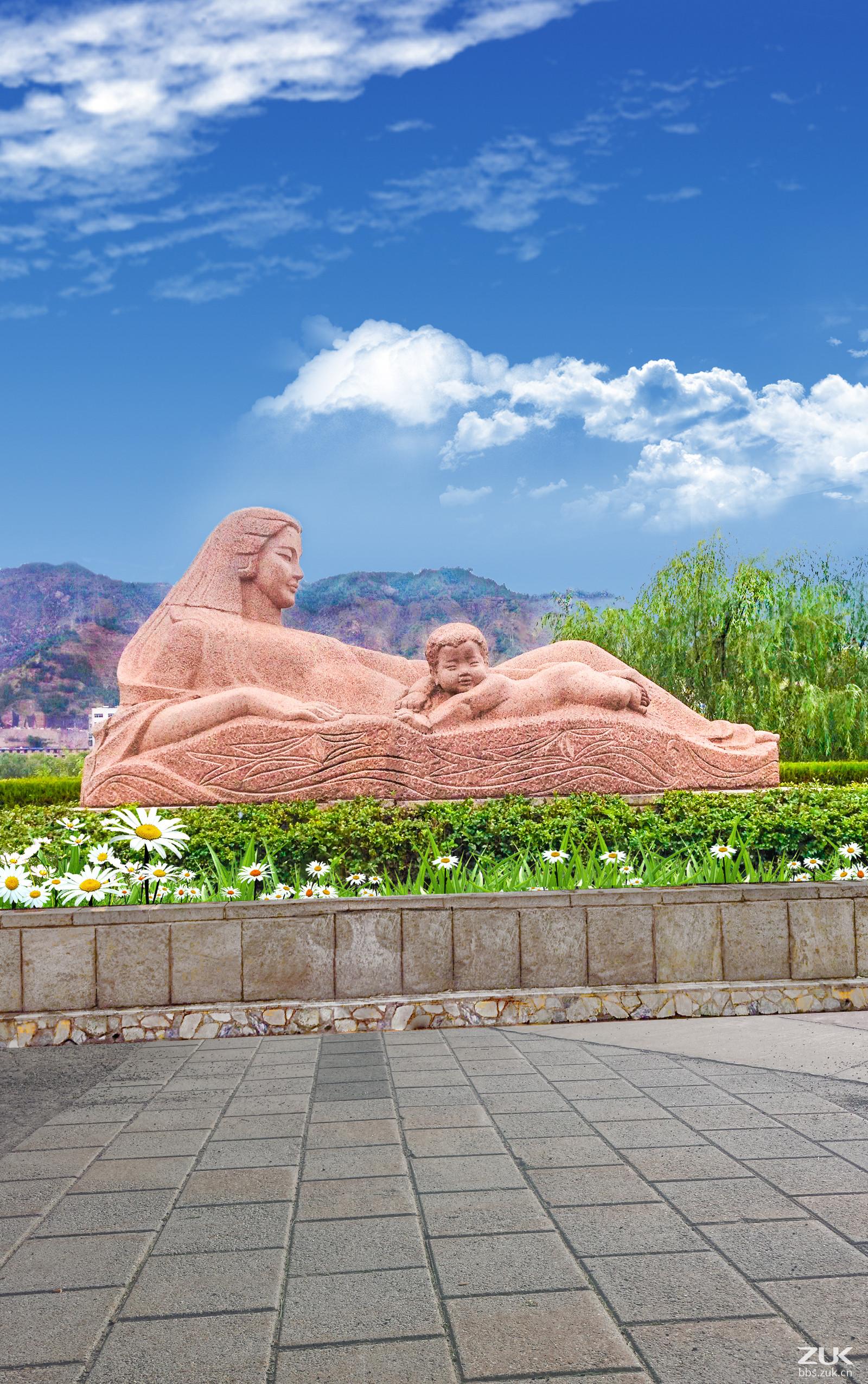 【zui最美家乡】甘肃兰州黄河母亲雕塑